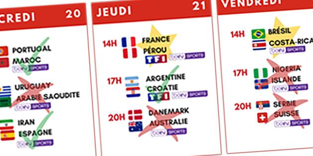 Programme Coupe du monde 2018: les 7 dates à cocher dans votre agenda pour la 2e semaine