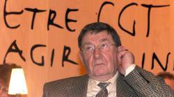 Louis Viannet, ancien secrétaire général de la CGT, est