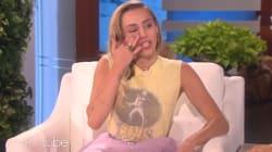 Miley Cyrus fond en larmes sur le plateau d'Ellen