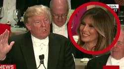 Trump se paye sa femme pendant le grand dîner des
