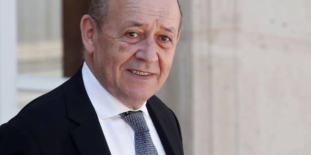 Comment Jean-Yves Le Drian, ici le 3 août 2018 à l'Élysée, a exclu les figures vichystes d'un hommage à ses prédécesseurs