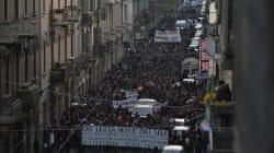 Torino blindata per corteo anarchici, minacce di morte a Salvini e