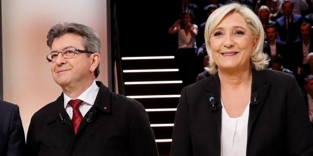 Mélenchon et Le Pen d'accord pour pointer des milices (mais pas du même camp).