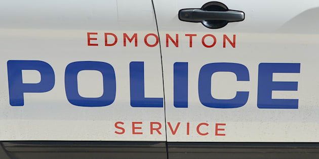 A view of the Edmonton Police sign on a police car on July 12, 2016.