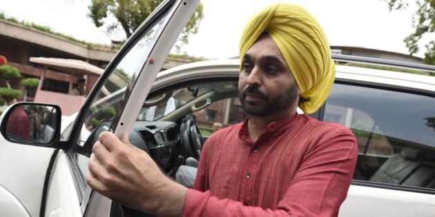 File photo of AAP MP Bhagwant Mann.