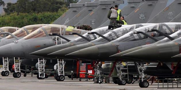 Cazas franceses Mirage 2000.