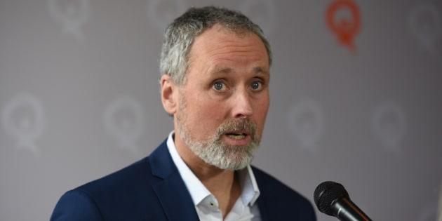 Le candidat de Québec Solidaire dans Rosemont, Vincent Marissal.