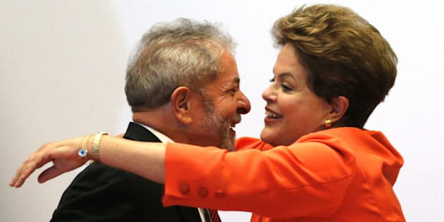 Dilma Rousseff y Luis Inácio Lula da Silva, durante un acto sobre nuevas tecnologías en Brasilia, en agosto de 2014.