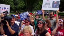 Les soutiens de Trump organisent un rassemblement