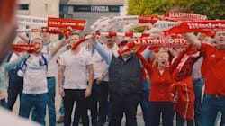 Hinchas del Real Madrid y del Liverpool se unen por el