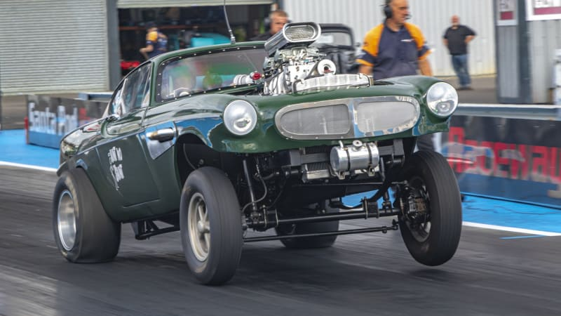 Volvo P1800-based gasser is UK's entry in the Hot Wheels Legends Tour