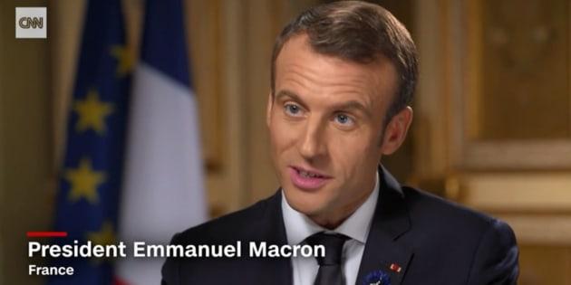 Emmanuel Macron a envoyé une pique pas très discrète à Donald Trump dans une interview à CNN