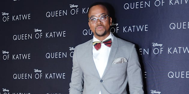 Media personality Maps Maponyane at the Queen of Katwe movie premier at Monte Casino, Johannesburg, in October.