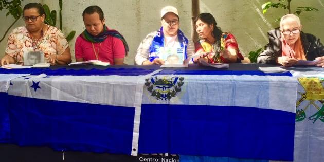 Conferencia de prensa de Caravana de Madres Centroamericanas que buscan a sus hijos desaparecidos, en Ciudad de México, el 5 de noviembre de 2018.