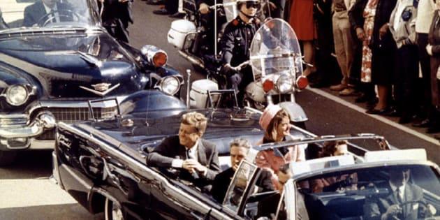 La pareja presidencial antes del asesinato de Kennedy.