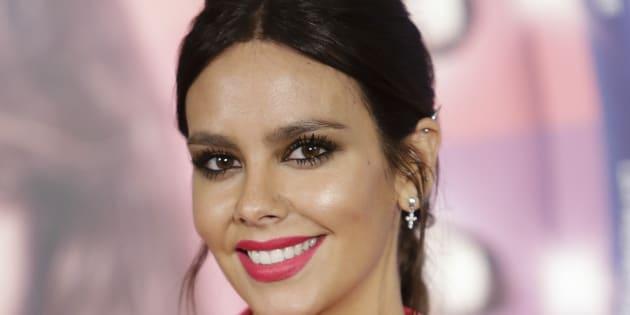 La presentadora Cristina Pedroche, durante la promoción de la película 'Sin rodeos' en Madrid el 22 de febrero de 2018.