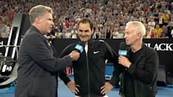 Will Ferrell Interrupts Roger Federer Interview, Goes Full Ron