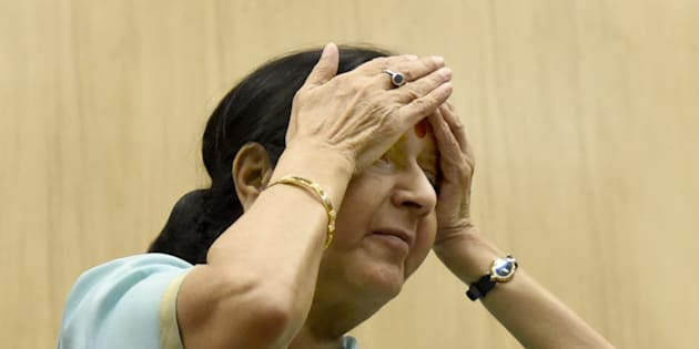 External Affairs Minister Sushma Swaraj made a boo boo on Twitter.
