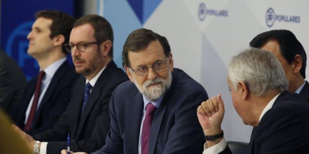 Rajoy en la reunión de la Junta Directiva Nacional del PP