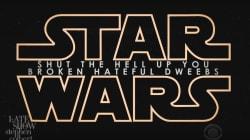 Colbert Creates 'Star Wars' Trailer To Troll Racist, Misogynistic