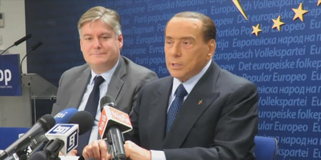Un frame tratto da un video di Alanews mostra Silvio Berlusconi nella sede del Ppe a Bruxelles, 22 gennaio 2018.