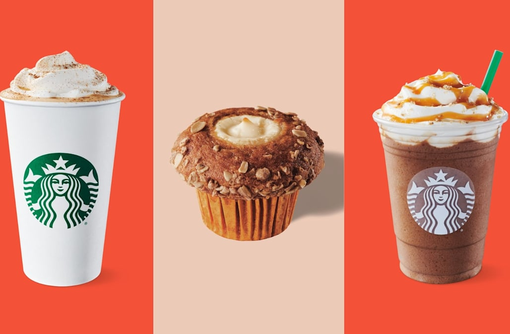 Christmas Starbucks Drinks 2019.Here S Everything On Starbucks Fall Menu From Pumpkin