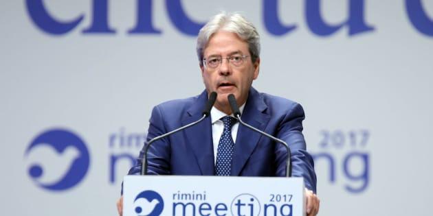 Gentiloni al Meeting di Rimini: Barcellona, migranti, economia e Ius soli