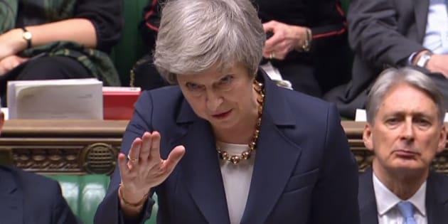Theresa May el pasado martes en el Parlamento británico.