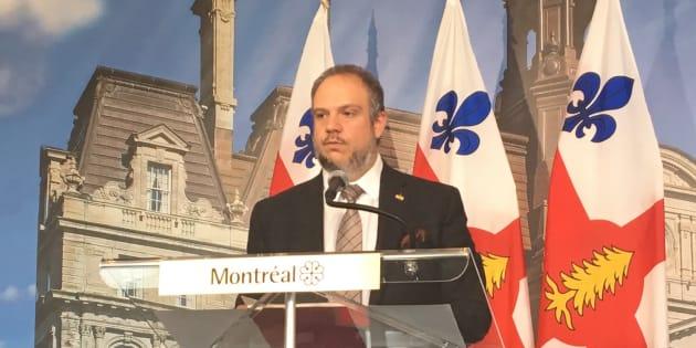 Benoit Dorais, président du comité exécutif de la Ville de Montréal.