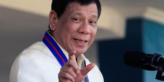 El presidente filipino Rodrigo Duterte, durante un discurso en un acto policial, el pasado 9 de agosto en Manila.