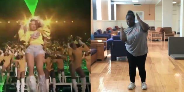 Cette adolescente a appris et reproduit la chorégraphie de Beyoncé à Coachella en un temps record
