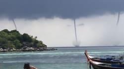 Estos turistas presencian cuatro tornados a la vez en