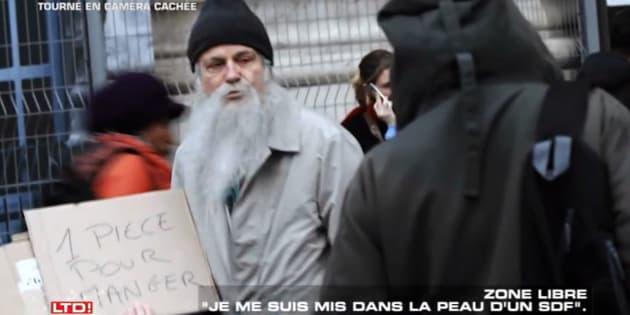 """""""SLT"""": Franz-Olivier Giesbert se met dans le peau d'un SDF pour une caméra cachée"""