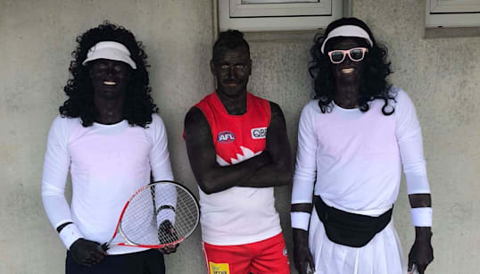 AFL Players Don Blackface, Dress Up As Venus And Serena