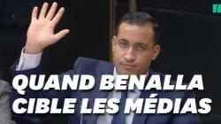 Benalla critique les médias (mais les cite quand ça