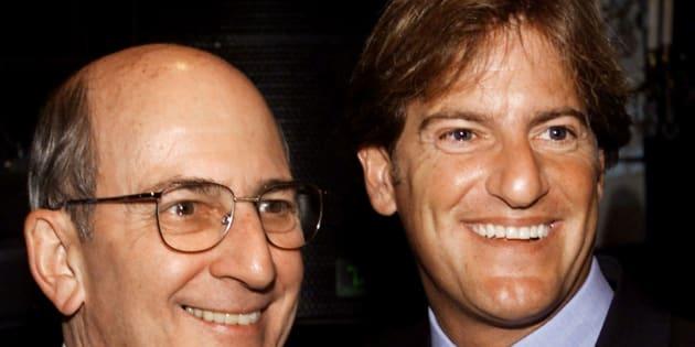 Stephen Bronfman à droite, et son père Charles (à gauche).