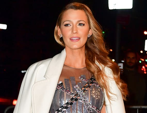 Blake Lively stuns in sheer, silver dress