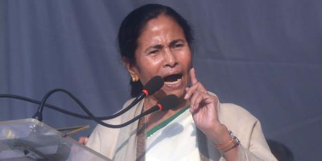 DELHI, INDIA NOVEMBER 23: Chief Minister of West Bengal Mamata Banerjee during a protest at Jantarmantar in New Delhi.
