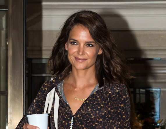 Katie Holmes rocks unfortunate jumpsuit