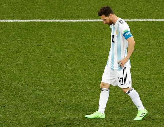Messi makes unsportsmanlike exit following loss