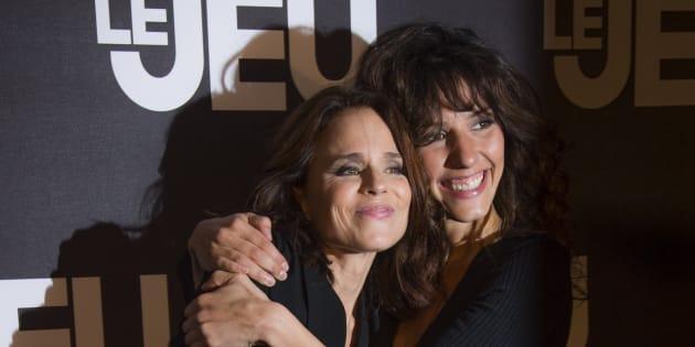 """Suzanne Clement et Doria Tillier à la première du film """"Le Jeu""""  à l'UGC Normandie de Paris le 9 octobre."""