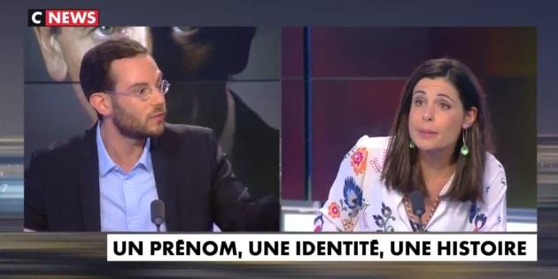 """Clément Viktorovitch et Charlotte d'Ornellas ce jeudi soir en plein débat sur """"l'immigration massive"""" en France."""