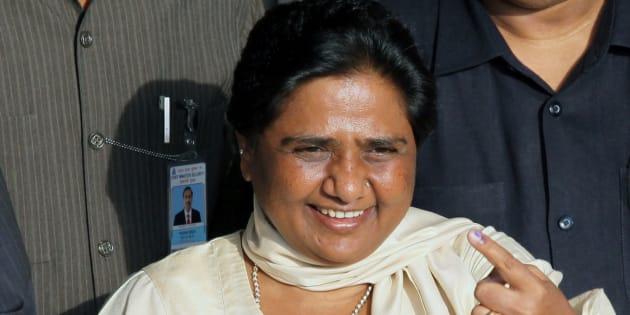Mayawati, from India's Uttar Pradesh based Bahujan Samaj Party (BSP). REUTERS/Pawan Kumar (INDIA ELECTIONS POLITICS)