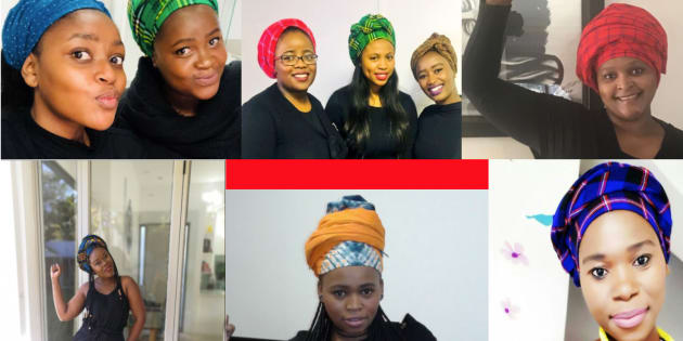 South African women dressed in black and wore colourful doeks on Friday April 6 to honour Winnie Madikizela-Mandela.