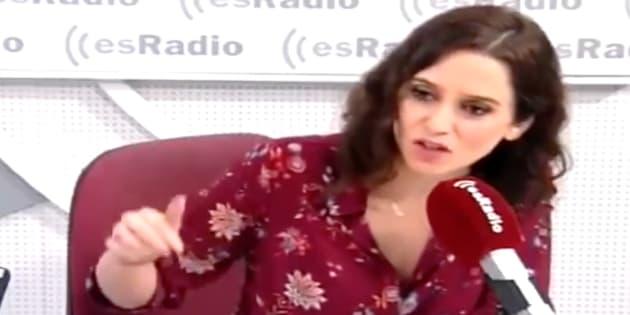 Isabel Díaz Ayuso en 'EsRadio'.