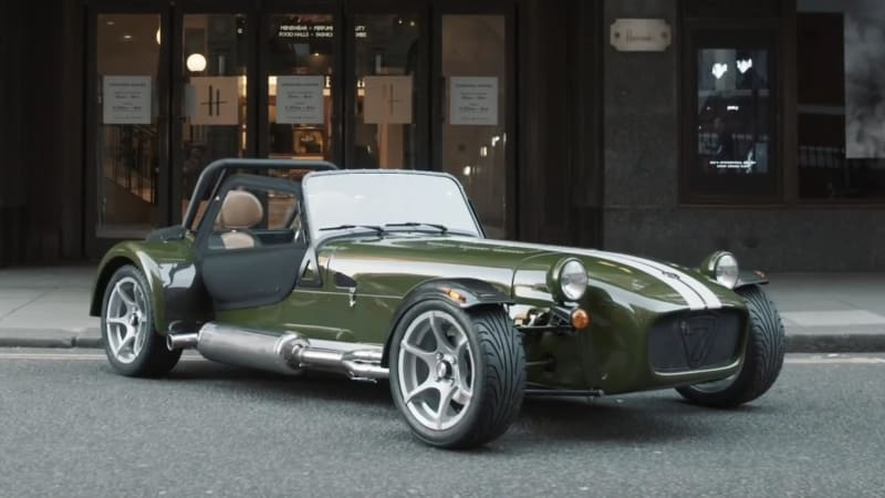 caterham launches customization program with harrods seven 420s autoblog. Black Bedroom Furniture Sets. Home Design Ideas