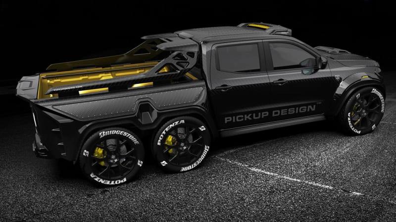 mercedes benz x class by carlex design is a carbon fiber 6x6 pickup autoblog. Black Bedroom Furniture Sets. Home Design Ideas