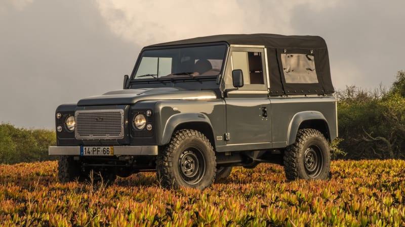 Vintage Restomod Land Rover Defender 90 Review Autoblog