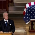 Mulroney Fights Back Tears In Eulogy For George H.W.