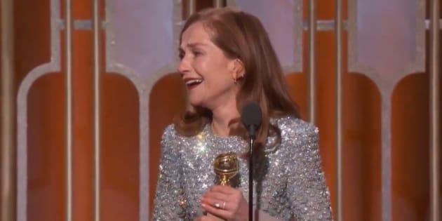 Isabelle Huppert remporte le Golden Globes de meilleure actrice film dramatique